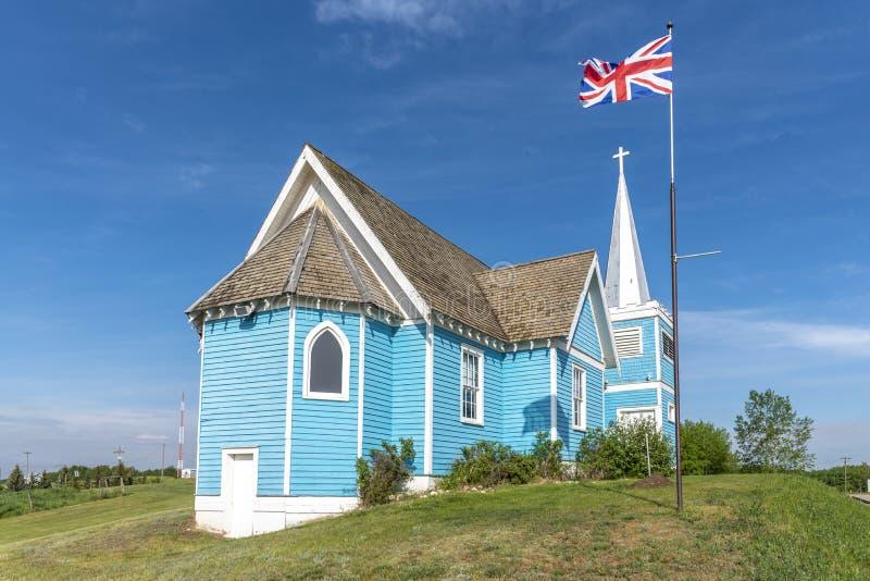 Igreja do St Edmund no vale grande, Alberta fotografia de stock