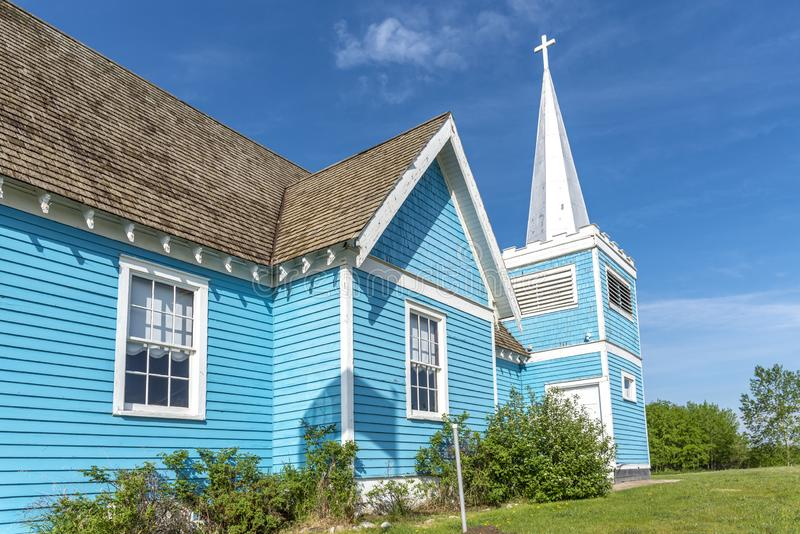 Igreja do St Edmund no vale grande, Alberta imagem de stock