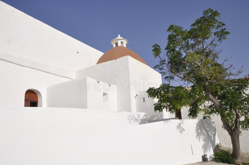 Igreja do St Eulalia em Ibiza foto de stock