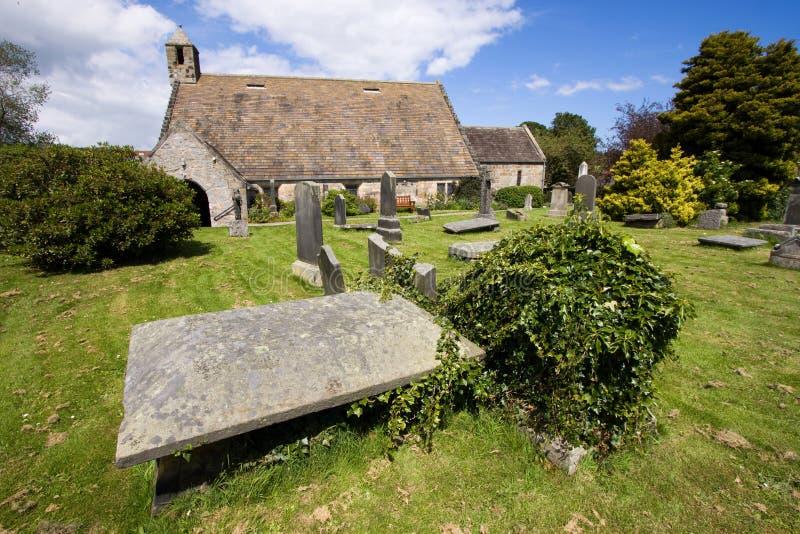 Igreja do St Fillan, Aberdour, Fife foto de stock