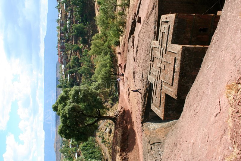 Igreja do St. George, Lalibela, Etiópia imagens de stock