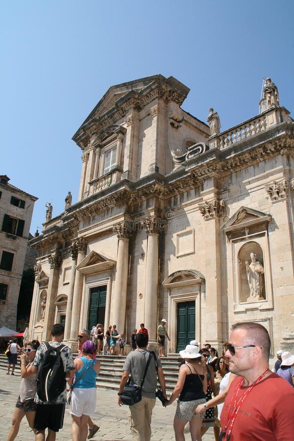 Igreja do St. Ignatius. Dubrovnik, Croatia. imagens de stock