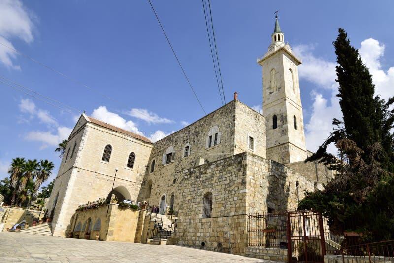 Igreja do St John Ba Harim, Jerusalém imagens de stock royalty free
