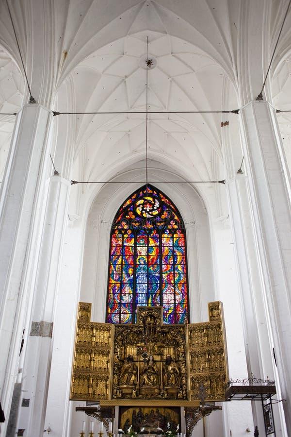 Igreja do St. Mary em Gdansk foto de stock