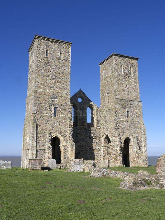 Igreja do St Marys, Reculver, Kent, foto de stock