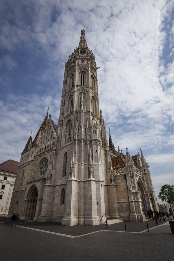 Igreja do St Matthias em Budapest, Hungria foto de stock royalty free