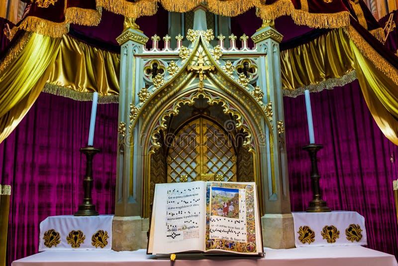 Igreja do St Matthias em Budapest, Hungria foto de stock