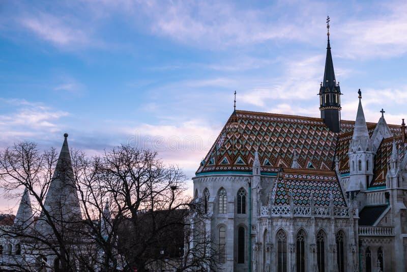 Igreja do St Matthias em Budapest, Hungria imagens de stock royalty free