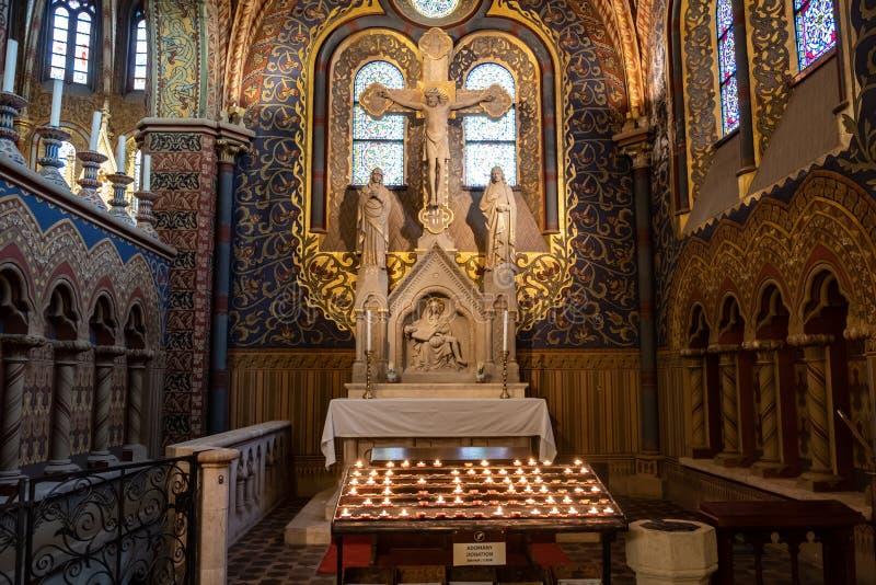 Igreja do St Matthias em Budapest, Hungria imagem de stock