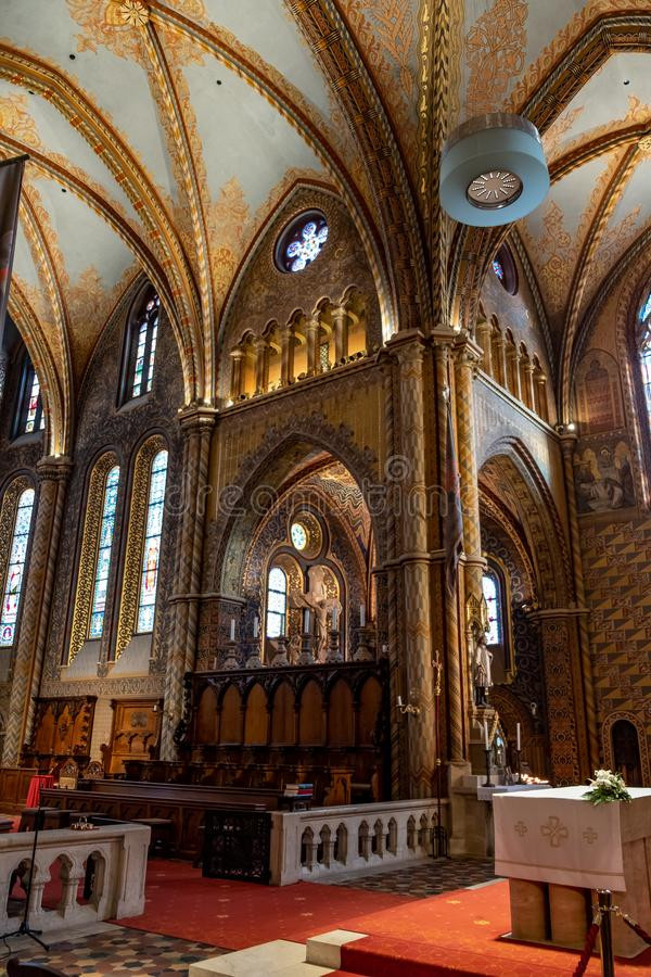 Igreja do St Matthias em Budapest, Hungria fotografia de stock