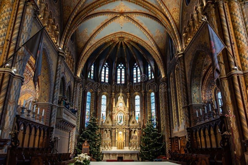 Igreja do St Matthias em Budapest, Hungria fotos de stock