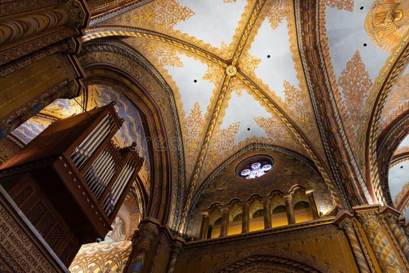 Igreja do St Matthias em Budapest, Hungria imagens de stock