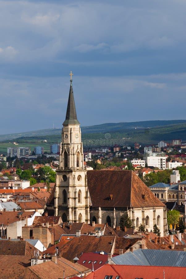 Igreja do St. Michael, Cluj-Napoca imagens de stock royalty free