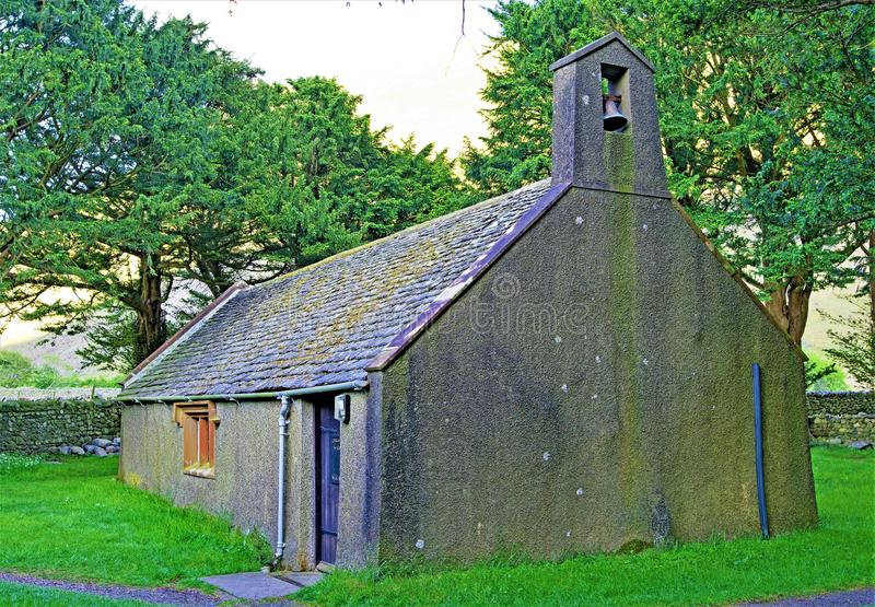Igreja do St Olaf, na cabe?a de Wasdale, distrito do lago, noroeste, Inglaterra fotos de stock royalty free