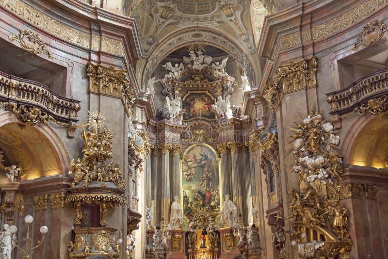 Igreja do St Peters, Viena imagens de stock