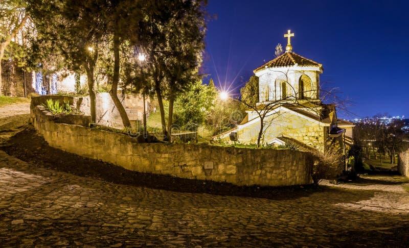 Igreja do St Petka na fortaleza de Kalemegdan em Belgrado foto de stock