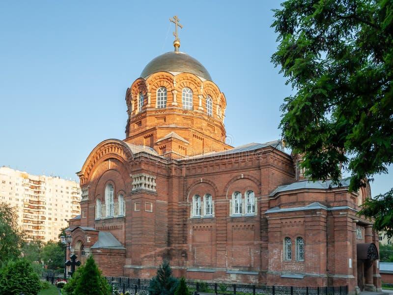 Igreja do St Sergius Rússia, cidade de Tula, fotografia de stock