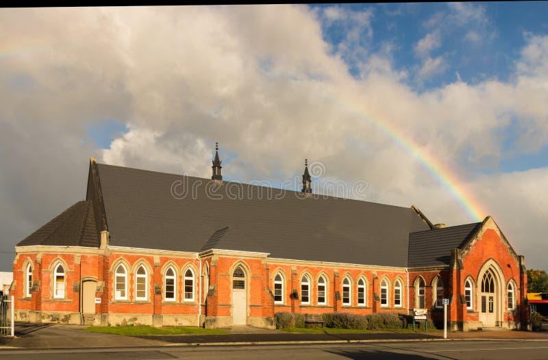 Igreja do tijolo de Masterton fotografia de stock