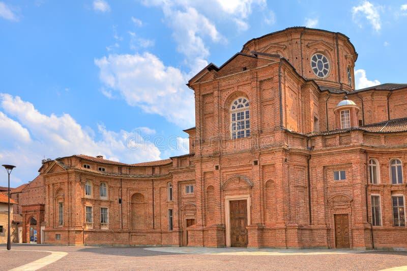 Igreja do tijolo em Venaria Reale, Itália. fotos de stock