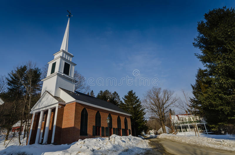 Igreja do tijolo - Grafton, Vermont foto de stock royalty free