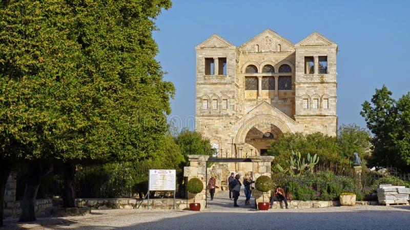 Igreja do Transfigurador no Monte Tabor, Israel foto de stock