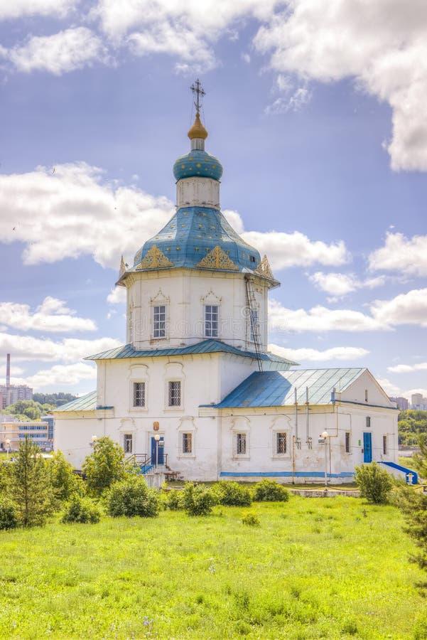 Igreja Dormition de Rússia Cheboksary a maioria de Theotokos santamente imagem de stock