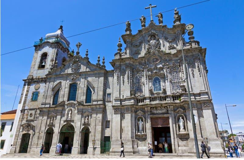 Igreja DOS Carmelitas och Igreja gör Carmo i Porto, Portugal fotografering för bildbyråer