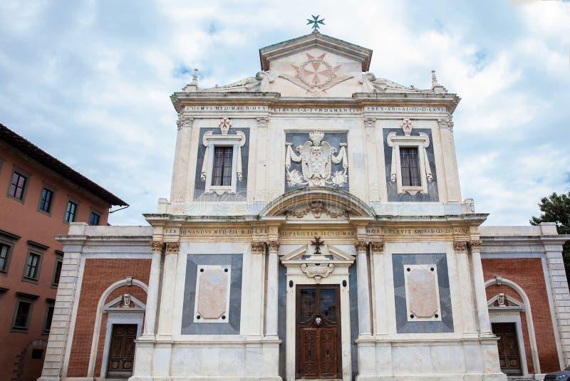 Igreja dos cavaleiros da ordem santamente e militar de St Stephen fotografia de stock