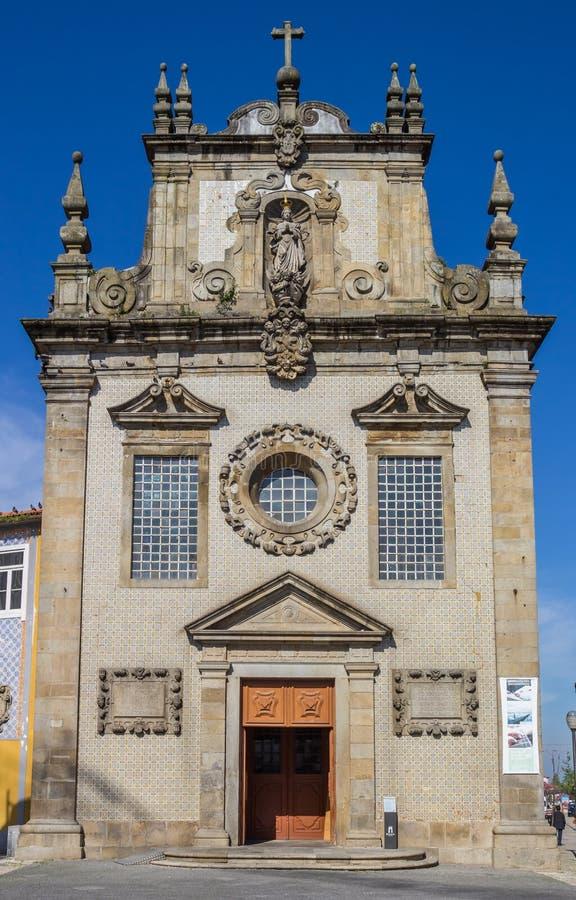 Igreja Dos Terceiros i mitten av Braga arkivfoto