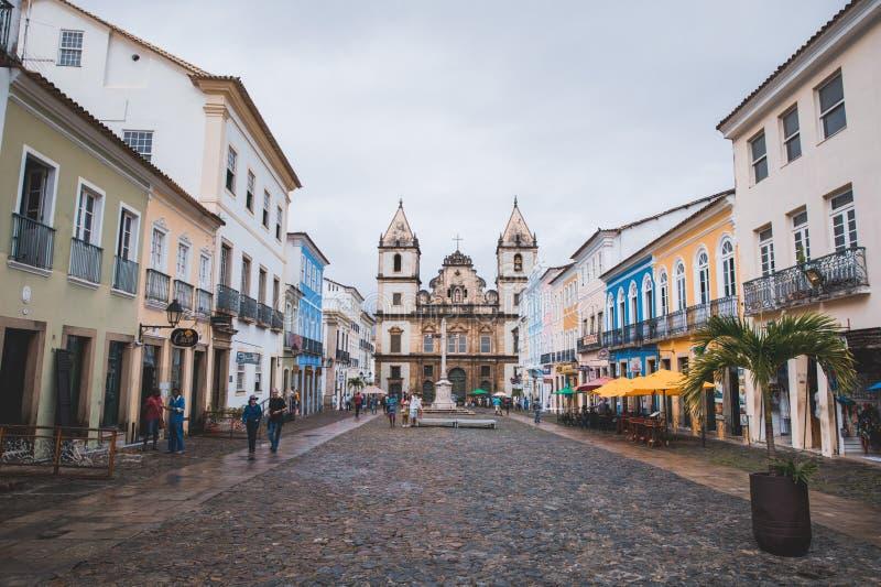 Igreja e Convento de São Franciscoin Bahia, Salvador - Brasilien royaltyfri bild