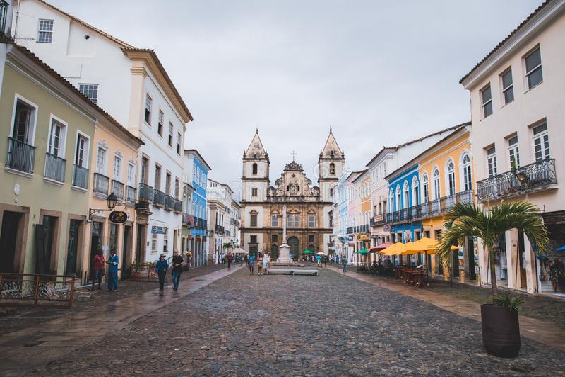 Igreja e Convento de São Franciscoin Bahia, Salvador - Brazil royalty free stock image