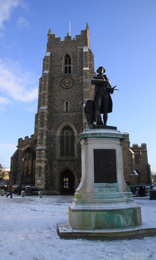 Igreja e Gainsborough do ` s de St Peter fotos de stock