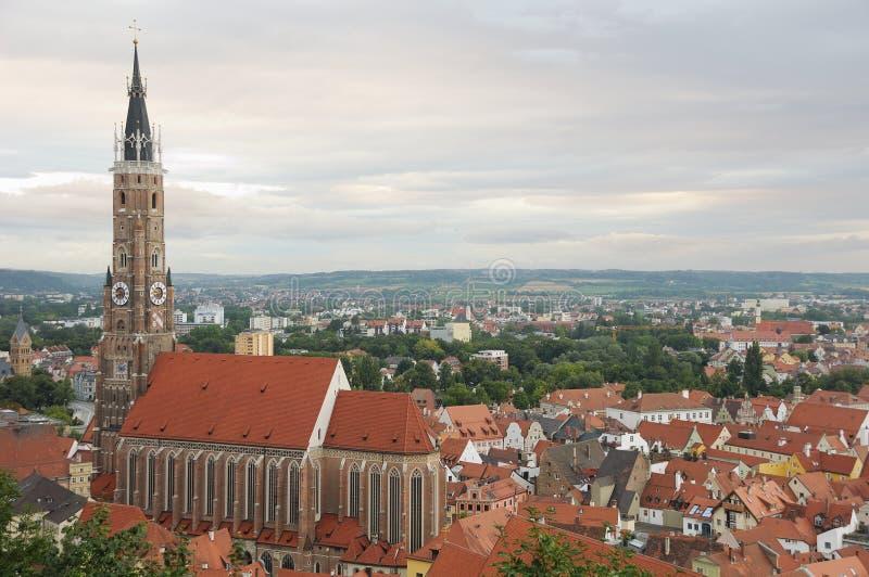 Igreja e Landshut do St Martin imagens de stock royalty free
