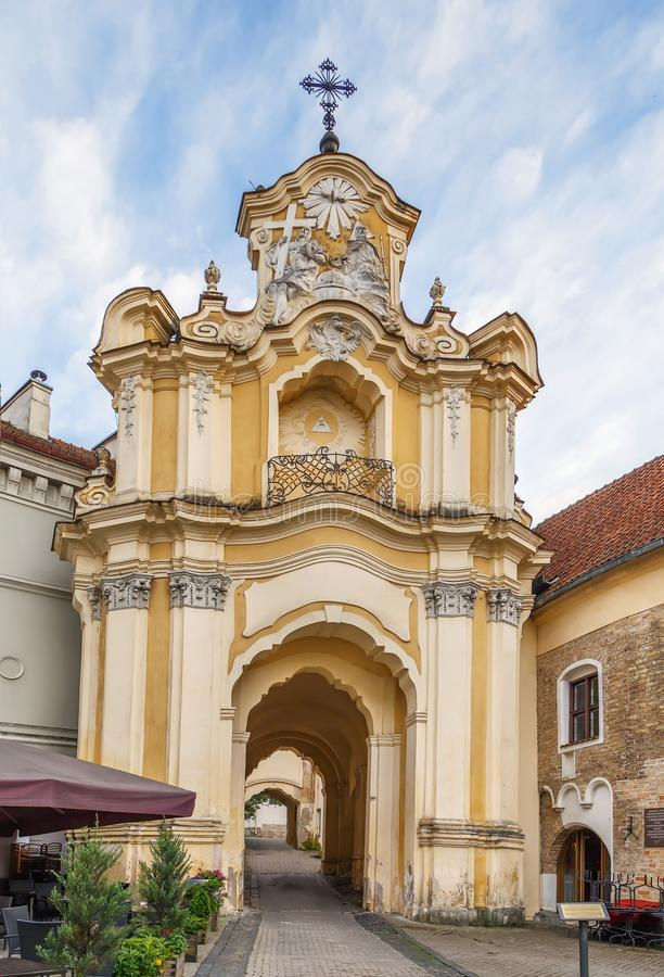 Igreja e monastério da trindade santamente, Vilnius, Lituania fotografia de stock royalty free