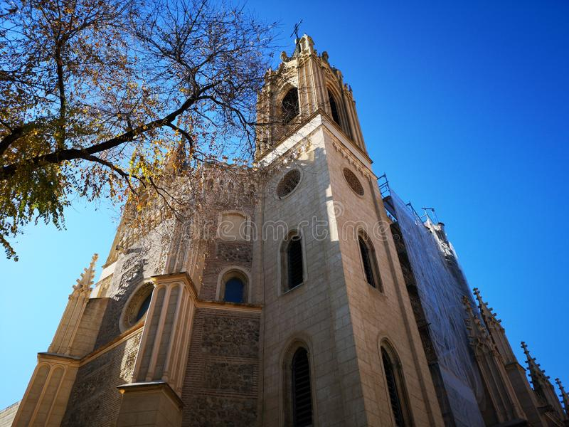 Igreja e monastério velho do EL do nimo do ³ de San Jerà real, no Madri, Espanha imagens de stock royalty free