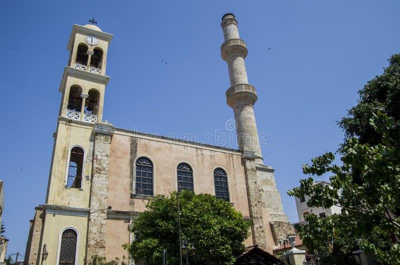 Igreja e Mosjid imagem de stock royalty free
