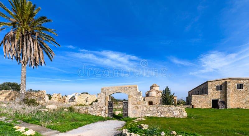 A igreja e o monastério de Panagia Kanakaria no turco ocuparam o lado de Chipre 19 imagens de stock royalty free