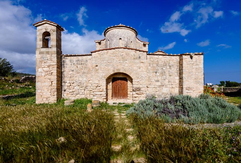 A igreja e o monastério de Panagia Kanakaria no turco ocuparam o lado de Chipre 3 fotos de stock royalty free