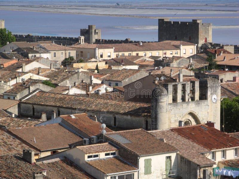 Igreja em Aigues-Mortes foto de stock