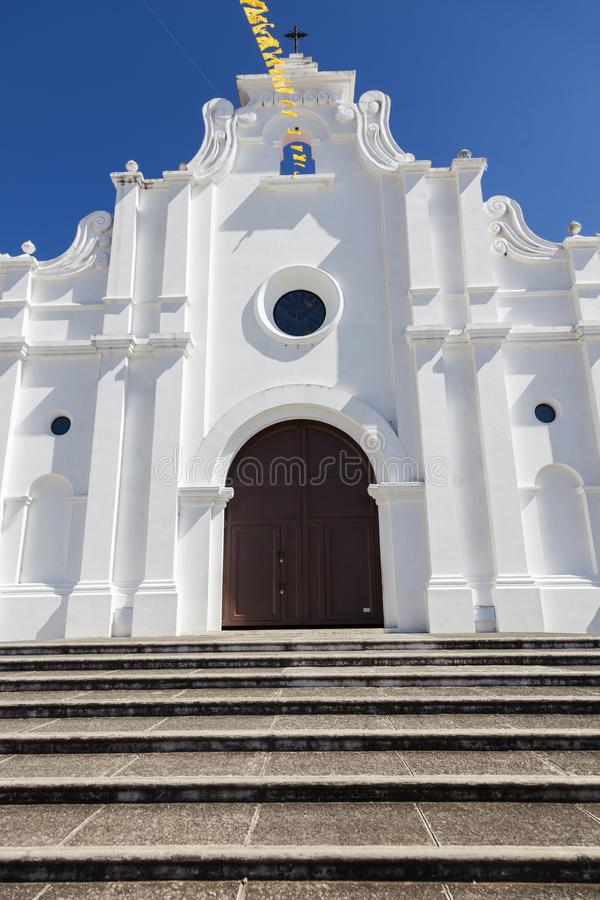 Igreja em Apaneca, El Salvador foto de stock royalty free
