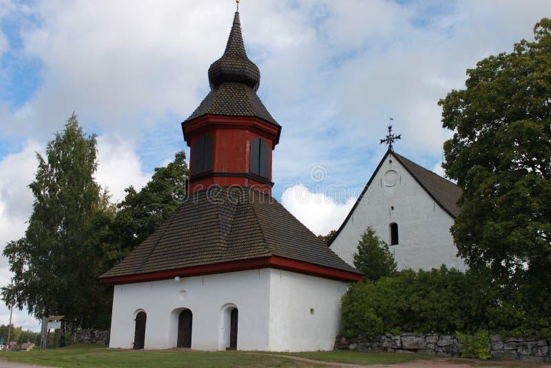 Igreja em Askainen foto de stock