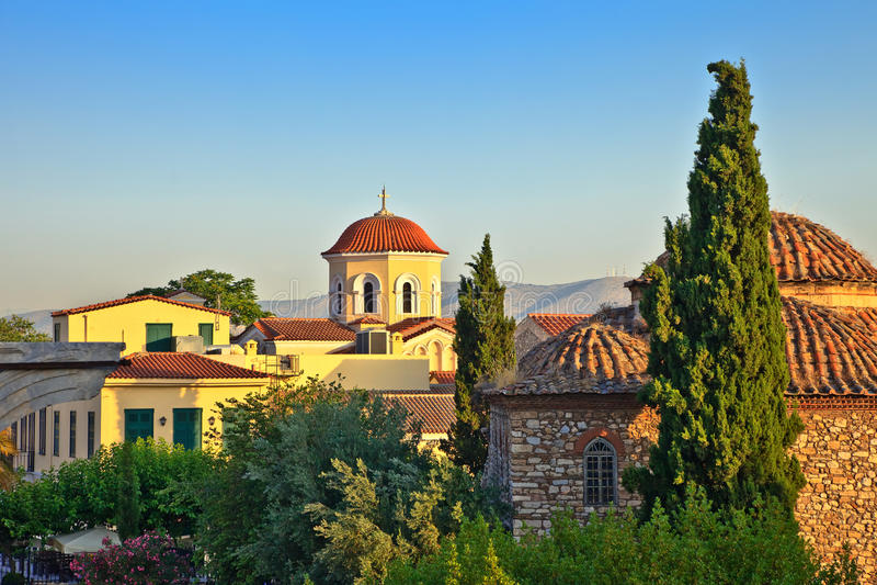 Igreja em Atenas imagens de stock royalty free