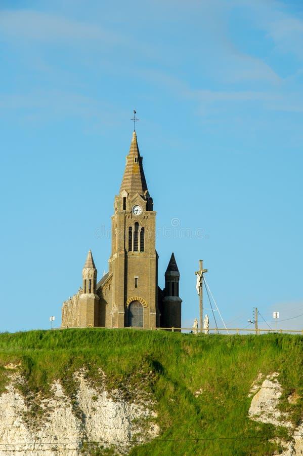 Igreja em Dieppe fotos de stock