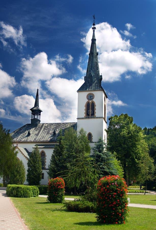 Igreja em Dolny Kubin imagens de stock