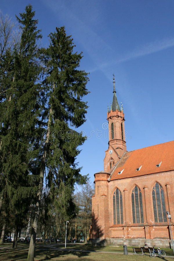 Igreja em Druskininkai imagem de stock royalty free