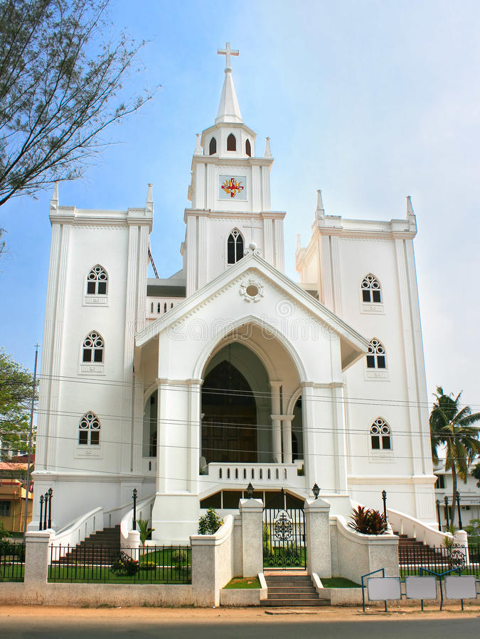 Igreja em Ernakulam, Cochin, Kerala, India fotos de stock