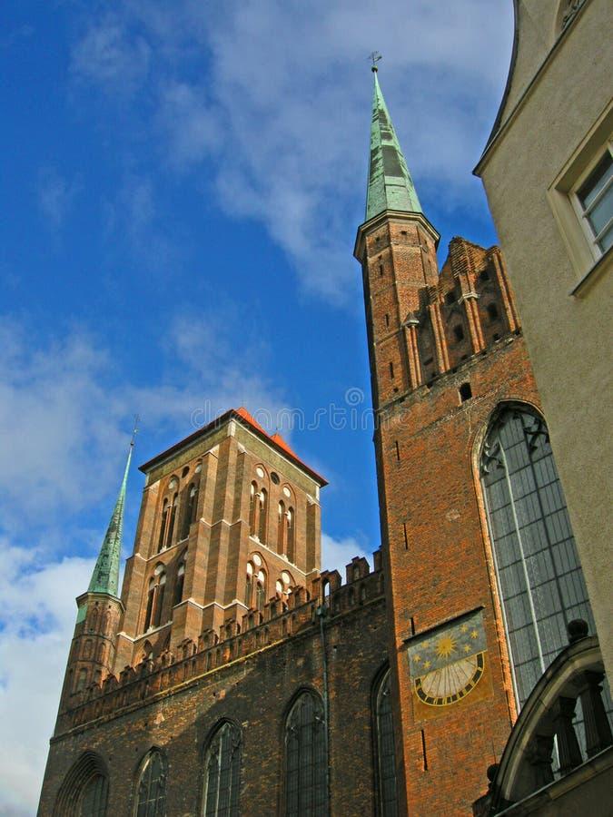 Igreja em Gdansk foto de stock