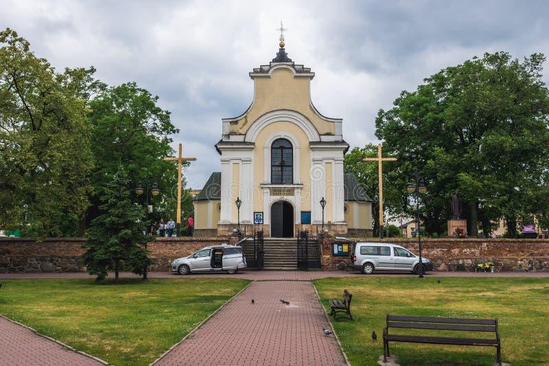 Igreja em Gora Kalwaria foto de stock