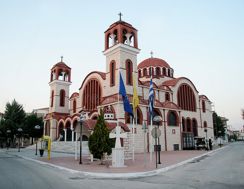 Igreja em Greece imagem de stock