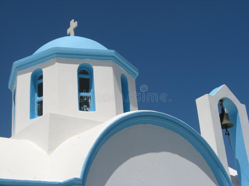 Igreja em Greece foto de stock